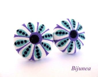Indian earrings - Purple indian earrings - Indian stud earrings - Indian studs - Indian posts - Indian post earrings sf710