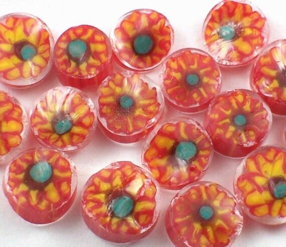 Sunflowers 104 COE Murrini Slices 15