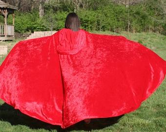 Cloak Cape -  Red Velvet