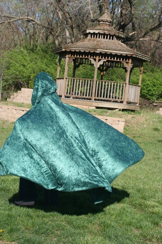 Green Velvet Cloak Cape