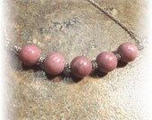 Scrumptious Pink Rhodonite Necklace