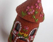 JAR House  from polymer clay good as Tooth Jar or as a  perfect as a gif ONE of a KIND
