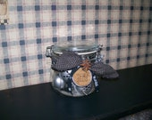 CLEARANCE....AS IS....No Returns....Large Silver Bells Latchtop Jar....Was  9.95  Now 6.95