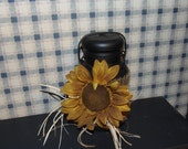 Latch Top Sunflower Canning Jar