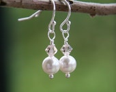 Simplicity Crystal and Pearl Earrings