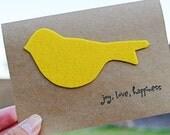 Yellow Little Birdie Card