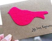Hot Pink Little Birdie Card