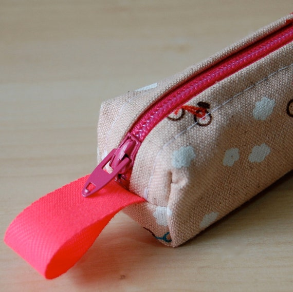Pink Bicycle Heaven Bitty Bag (pencil or makeup case)