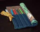 Old Timey Three Ring Circus Pencil Roll