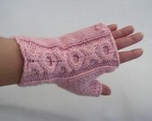50% OFF - Hand Knit XO Cabled Handwarmers