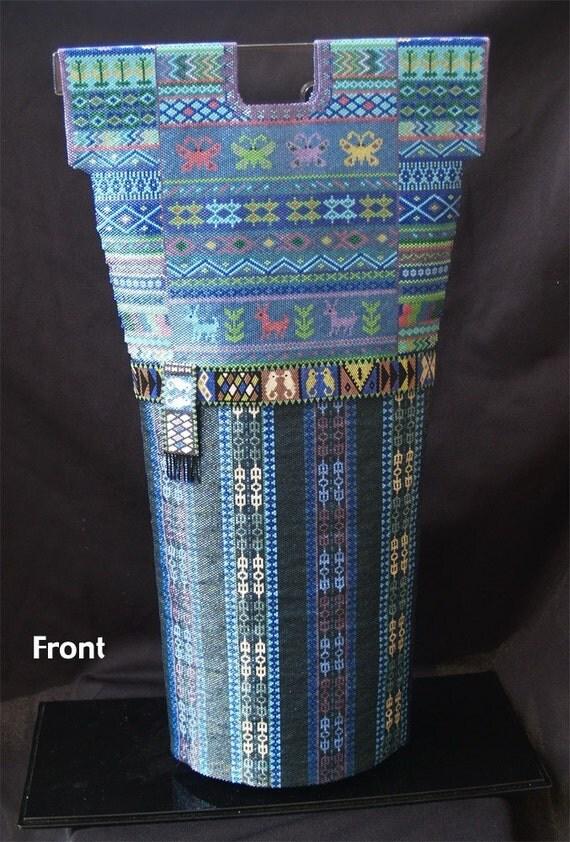Beaded Guatemalan Huipil and Skirt with sash