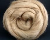 4 oz Fine Alpaca and Tussah Silk Top - Fawn - Free Shipping