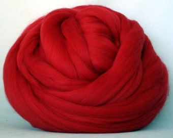 4 oz. Merino Wool Top - Cardinal