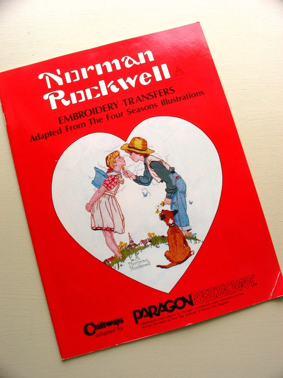 vintage norman rockwell embroidery transfers from craftways