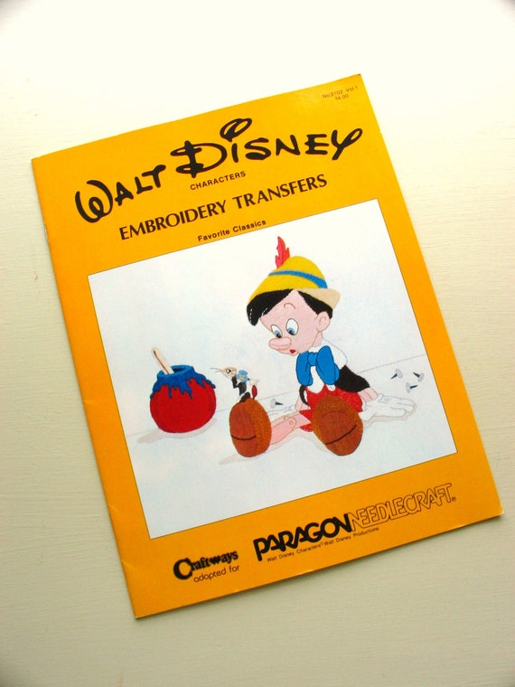 vintage walt disney characters embroidery transfers from craftways