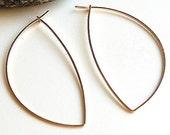 Large Gold Hoop Earrings - Avalon Hoops in 14K Gold Filled - Modern Jewelry. Simple. - by kusu