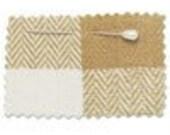 RESERVED FOR SewnNatural--3 yards--Organic Herringbone Check Fabric