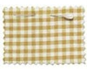 2 yards of Brown Gingham ORGANIC COTTON Check Fabric