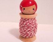 Tink & Twine - Classic Bakers Twine. Spool Doll in Red. 25 Yards.