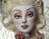 Vintage Glass Bottle Art Doll Sculpt