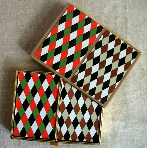 Harlequin Playing Card Set - Vintage Neiman-Marcus - 2 decks in Original Box