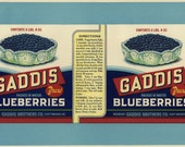Vintage Maine Blueberry Cannery Label