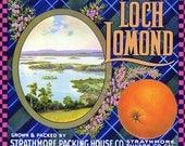 Loch Lomond Orange fruit crate label