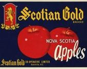Scotian Gold Nova Scotia Apple Fruit Crate Label