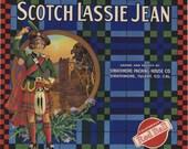 Scotch Lassie Celtic Scottish Orange Crate Label