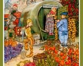 Fairies Elf Cottage Garden Large Refrigerator Magnet -  FREE US SHIPPING