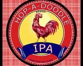 Hop a Doodle IPA Beer label Refrigerator Magnet