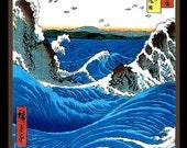 Vintage Sea Wave Refrigerator Magnet - Free US SHIPPING