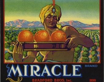 Miracle Orange crate label Placentia California