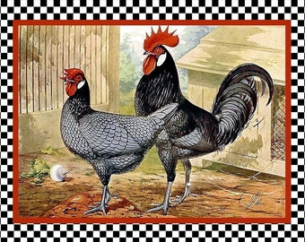 Chicken Rooster Andalusian Refrigerator Magnet