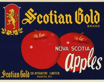 Scotian Gold Nova Scotia Apple Fruit Crate Label