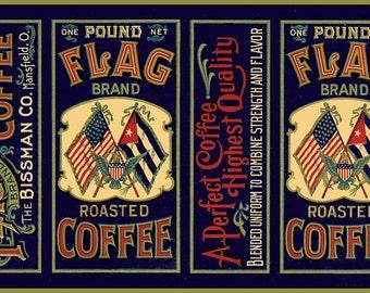 Cuban American Coffee Label Refridgerator Magnet  - FREE SHIPPING