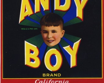 Andy Boy vegetable crate label