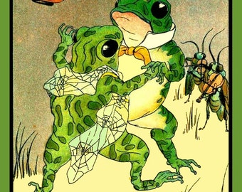 Frogs Dancing Refrigerator Magnet