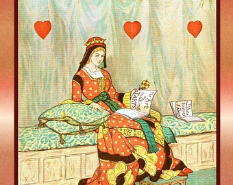 Queen of Hearts Large Refrigerator Magnet