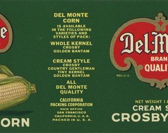 5 Different Del Monte Fruit Vegetable Can Labels