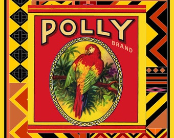 Polly Parrot Refrigerator Magnet