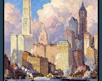New York City Hudson River Refridgerator Magnet