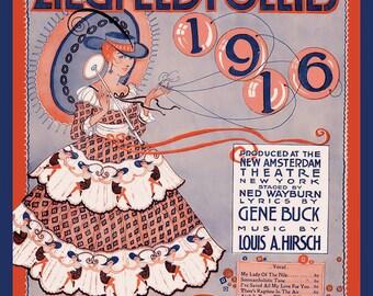 Ziegfeld Follies  Refrigerator Magnet - FREE US SHIPPING