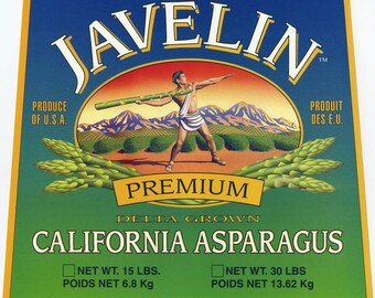 Javalin California Asparagas Crate Label Olympics
