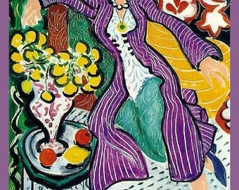 Matisse Woman on Sofa Refrigerator Magnet -  FREE US SHIPPING