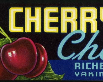 Cherry King Yakima Crate Label