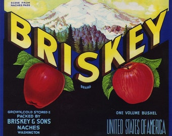 Naches Pass Washington Apple Crate Label