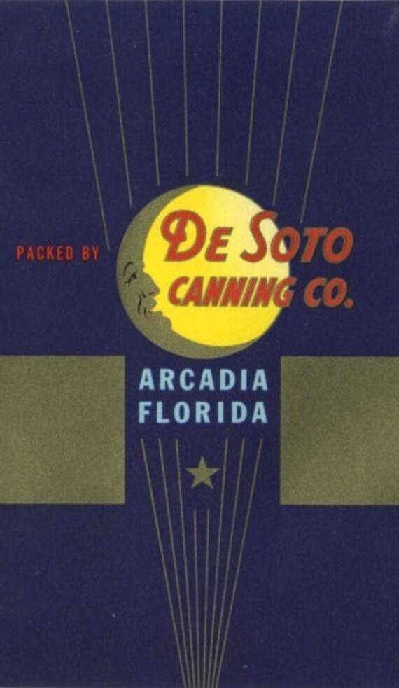 Moonkist De Soto Arcadia Florida Grapefruit Juice Can Label