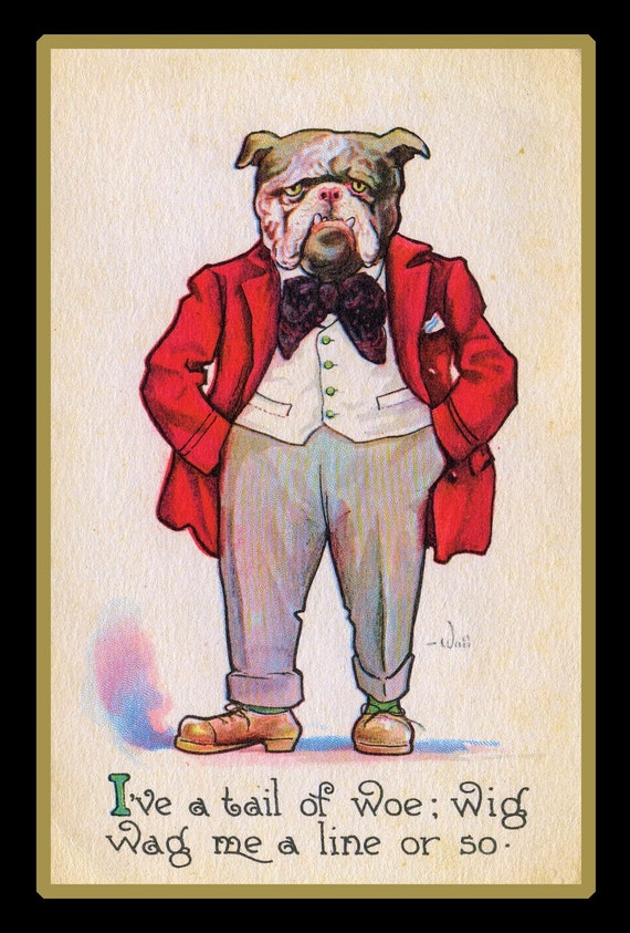 Bulldog In A Suit Refrigerator Magnet