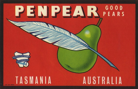 Penpack Australian Pear Crate Label